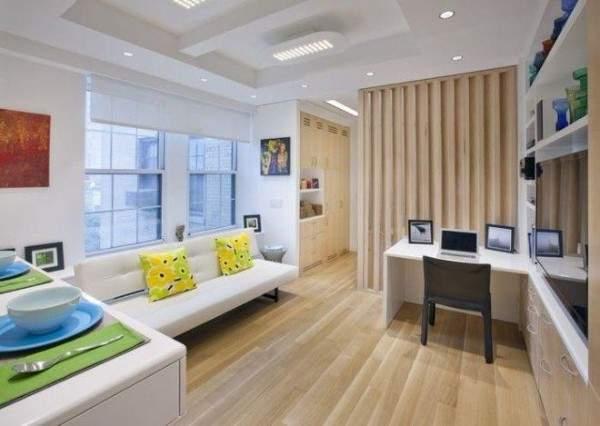 küçük tek odalı bir dairenin iç tasarımı, fotoğraf 38