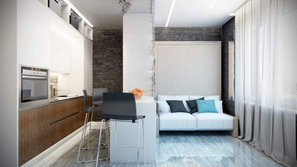 küçük stüdyo daire iç tasarım, fotoğraf 15