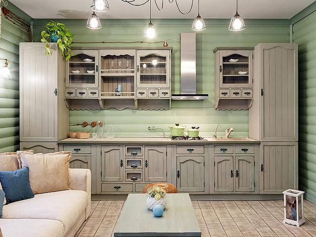 provence tarzında küçük mutfak
