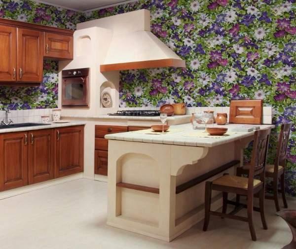 Моющиеся обои для кухни: советы по выбору и 70 фото