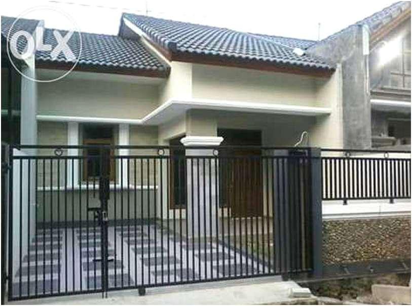 model desain pagar rumah minimalis besi metal cantik mewah modern type 36 terbaru