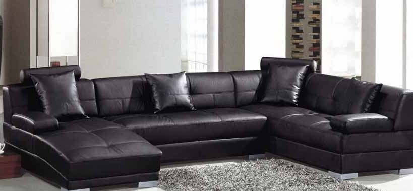 sofa minimalis hitam