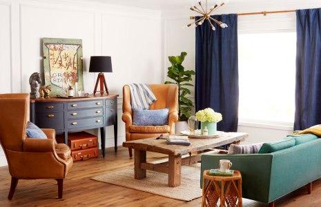 Gambar kursi tamu dari kayu bergaya country