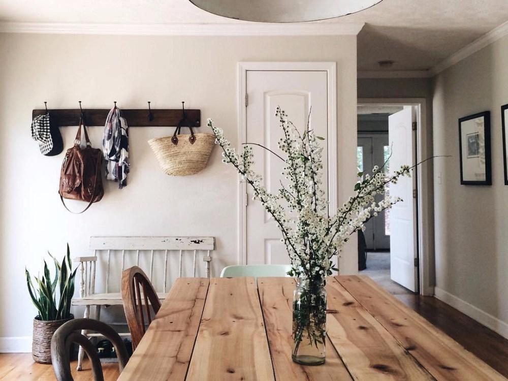 meja makan rumah minimalis sederhana