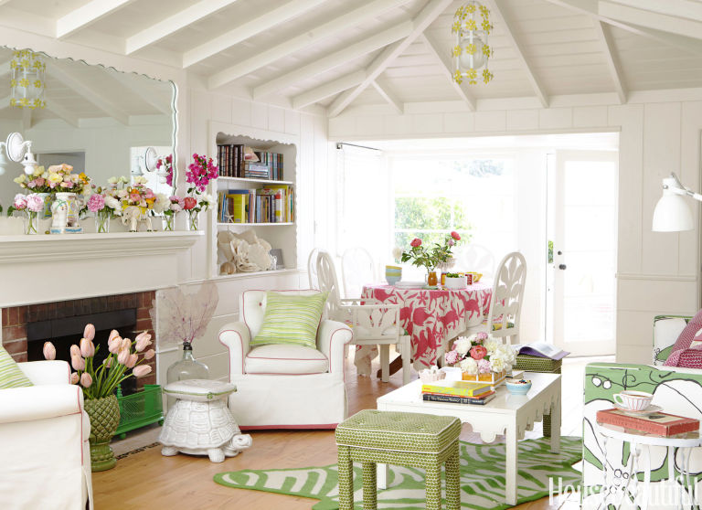Ruang Keluarga Warna Pastel