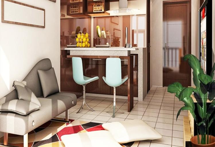 Ruang keluarga yang menyatu dengan tempat makan & 20 Inspirasi Pintar Menata Ruang Keluarga untuk Rumah Kecil