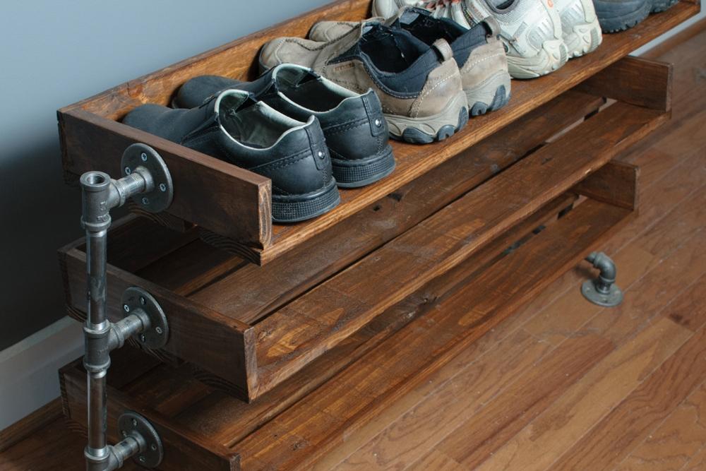 Rak Sepatu Kayu Rustik
