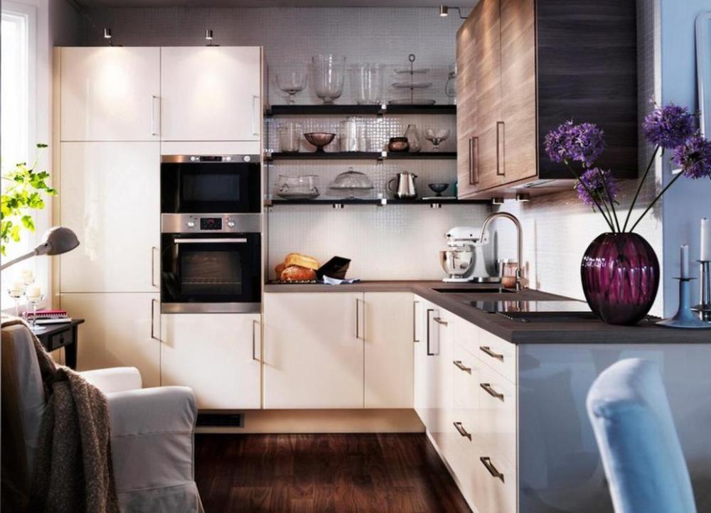 Kitchen Set Mini Dengan Aksen Simpel