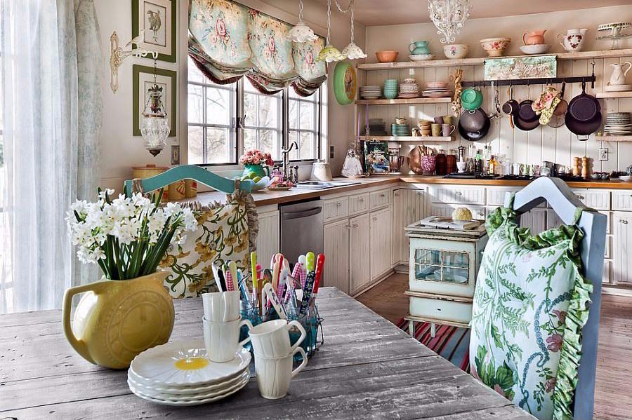 Dapur Rumah Shabby Chic