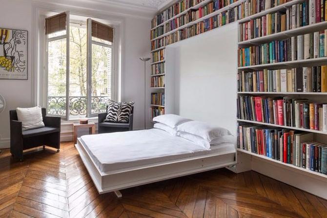 Tempat Tidur Lipat Rak Buku