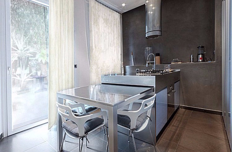Desain Dapur Minimalis dengan Kitchen Island