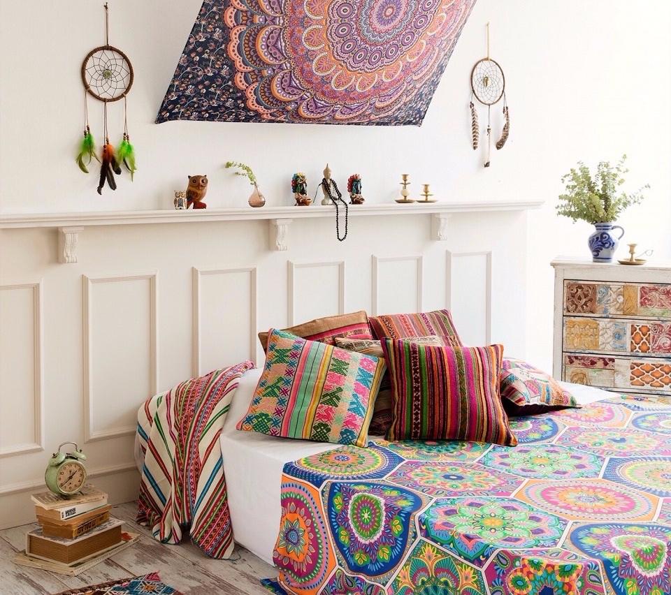 dekorasi kamar mandala tapestry