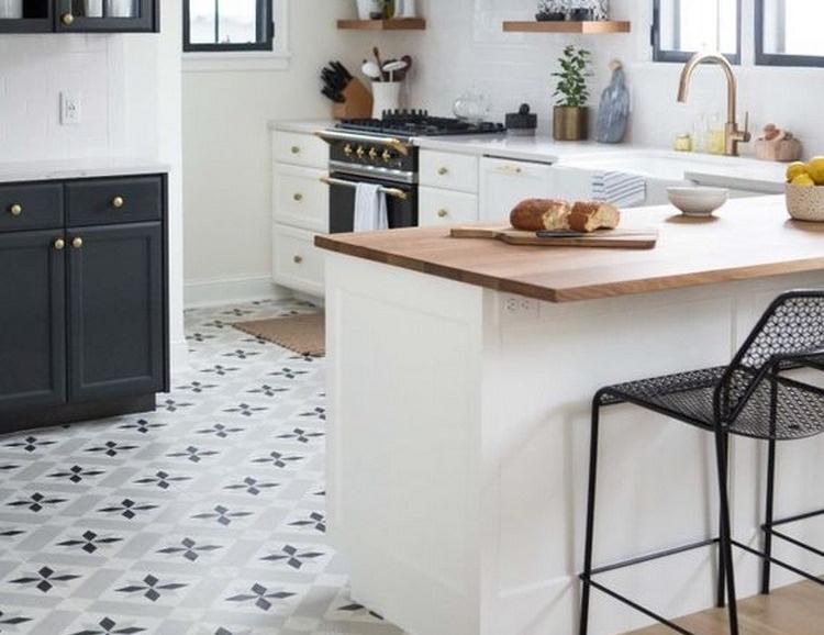 12 Desain Interior Dapur  Unik dengan Lantai Grafis