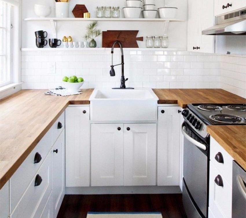 Desain Dapur Kecil dengan Bentuk U