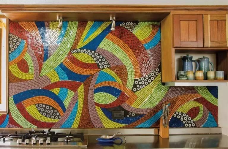 Hasil gambar untuk Desain Mural pada Interior Dapur