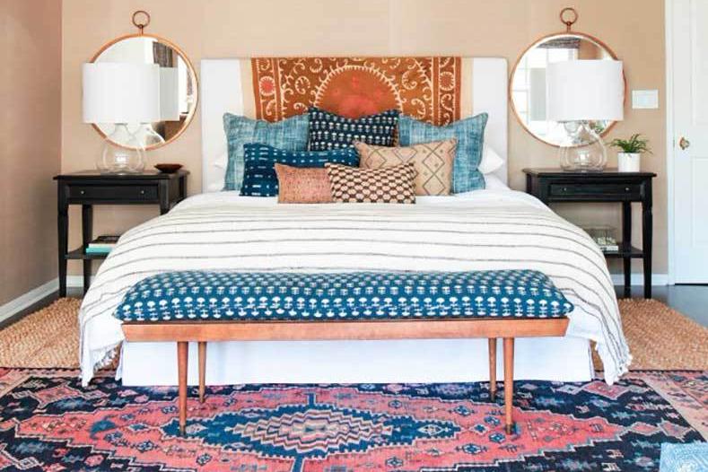 Desain interior kamar eklektik