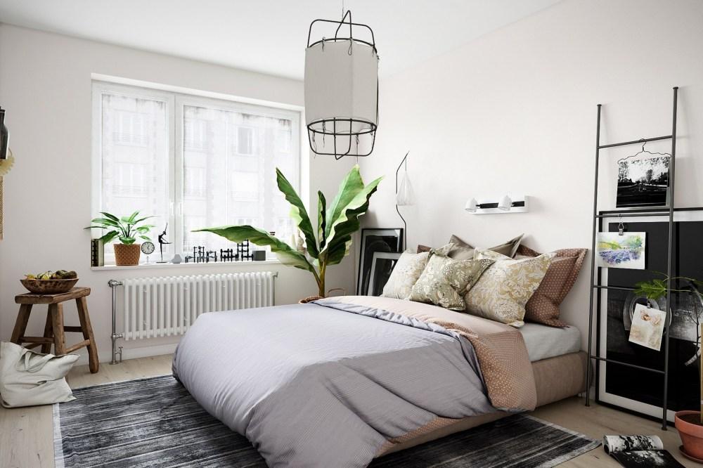 Desain interior kamar Skandinavia