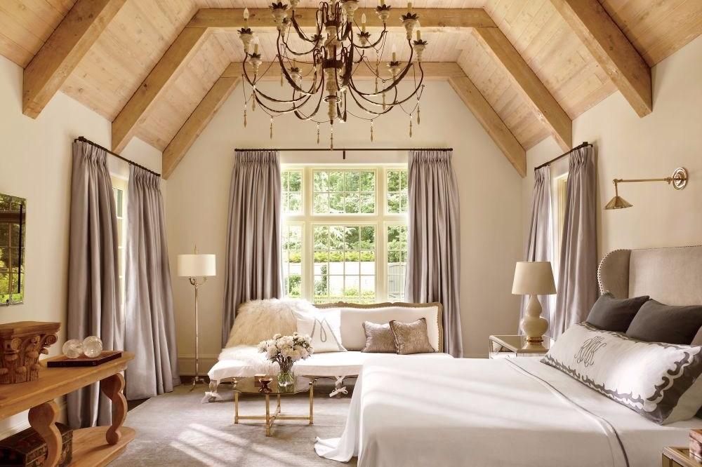 Desain interior kamar rustic