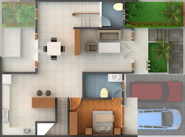 Model Rumah Sederhana Tipe 45