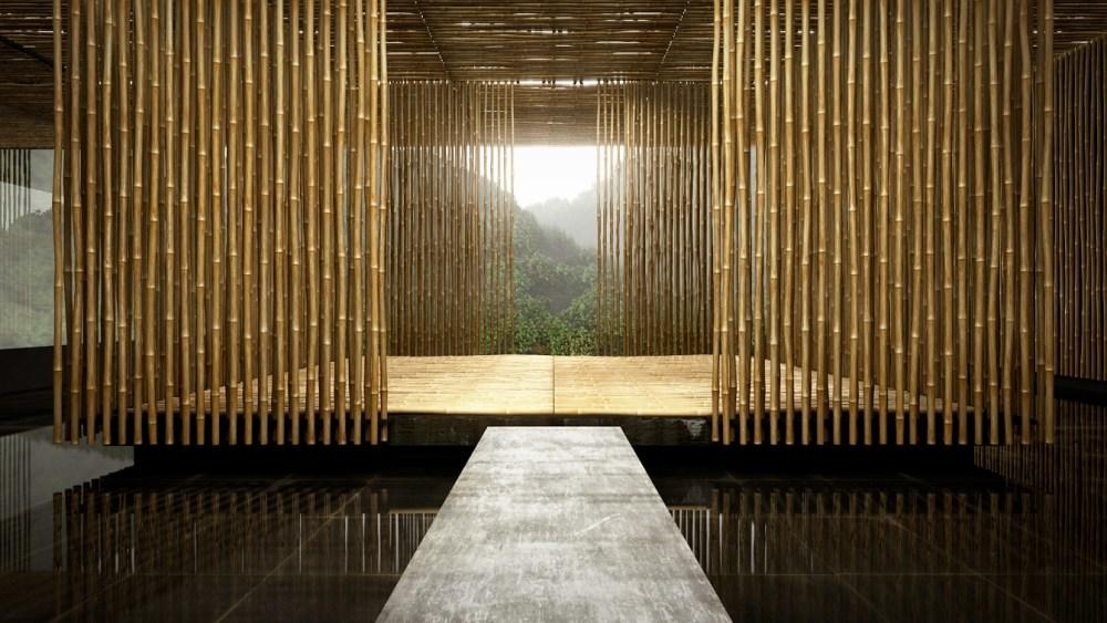 Rumah Bambu Simetris
