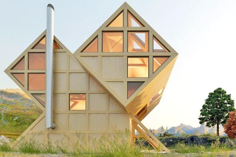 9 Desain Rumah Unik Geometris Super Kreatif Gambar