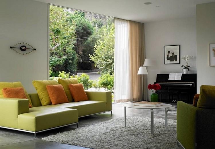 Gorden rumah dengan 2 sheer curtain
