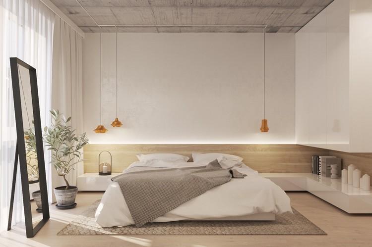Desain kamar minimalis dengan kesan langit-langit tinggi