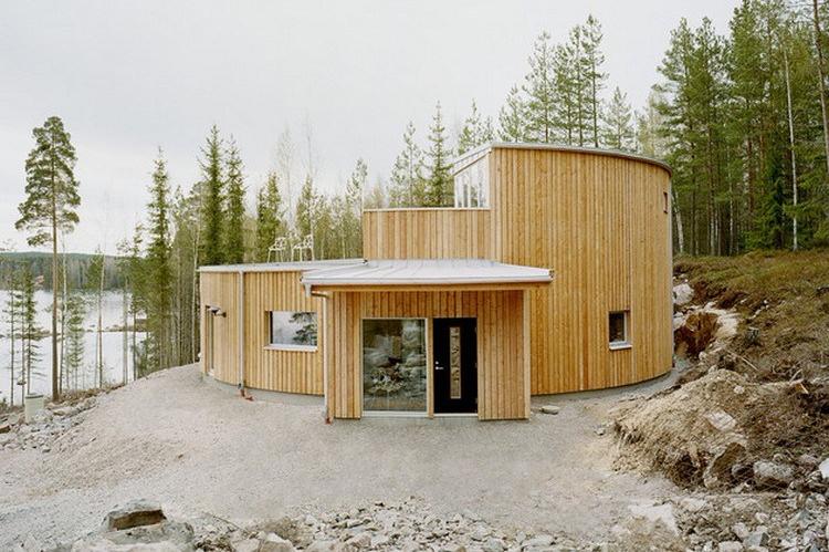 Desain rumah unik geometris dengan bentuk menyerupai cincin