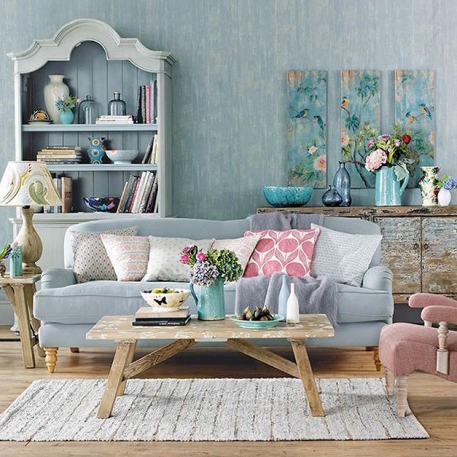 penggunaan warna pada desain vintage adalah warna lembut