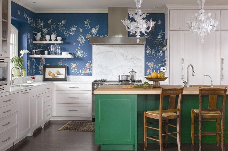 Desain dapur minimalis bentuk L bergaya eklektik