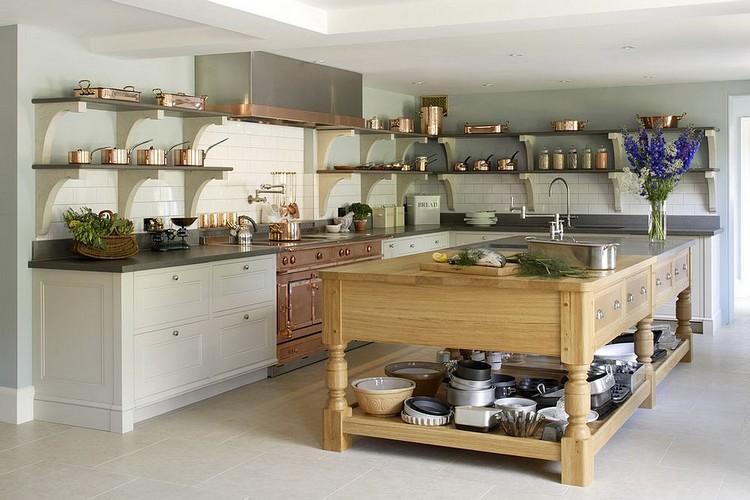 Desain dapur minimalis bentuk L dengan furnitur terbuka