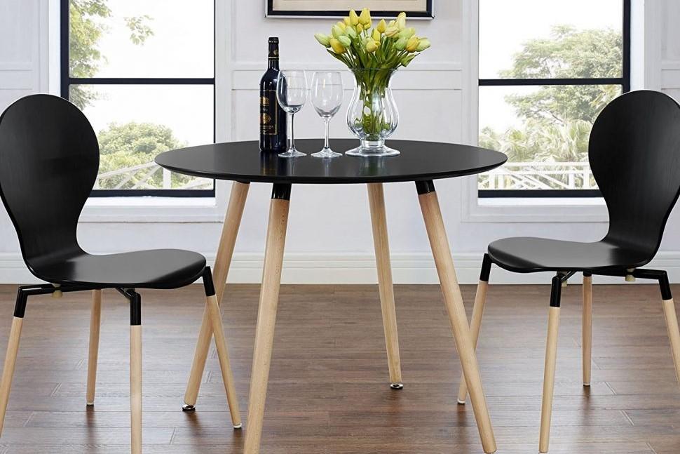 meja bundar ruang makan minimalis