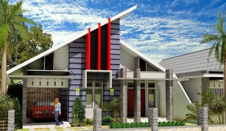 model atap rumah palang runcing