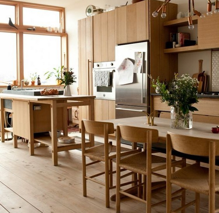 Dapur bersih yang menyatu dengan ruang makan