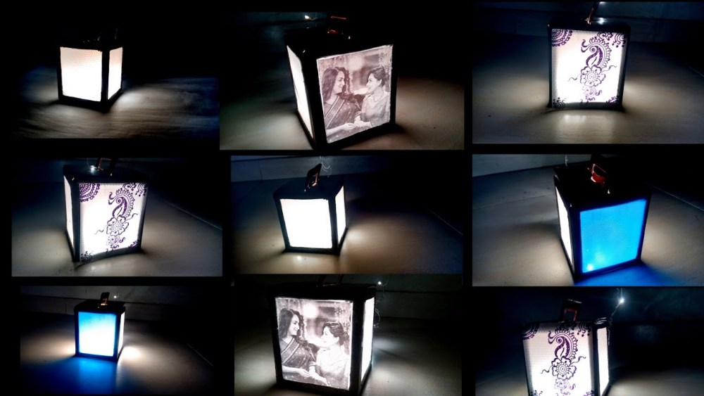 Bingkai Foto Unik Lampu