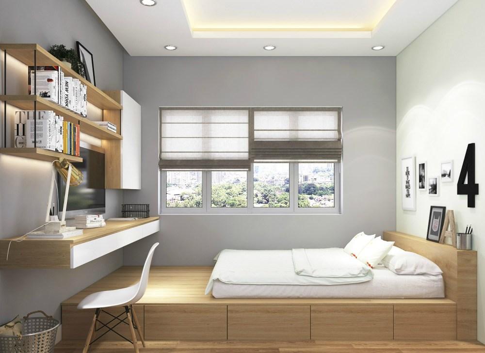 6 ciri desain interior apartemen minimalis idaman milenial. Black Bedroom Furniture Sets. Home Design Ideas