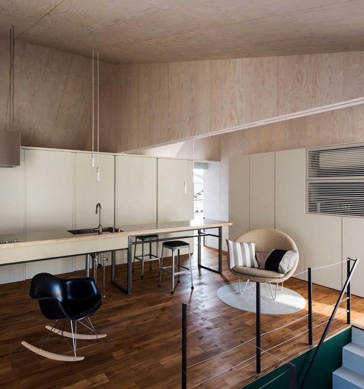 Dapur bersih ala Jepang dengan sentuhan industrial modern