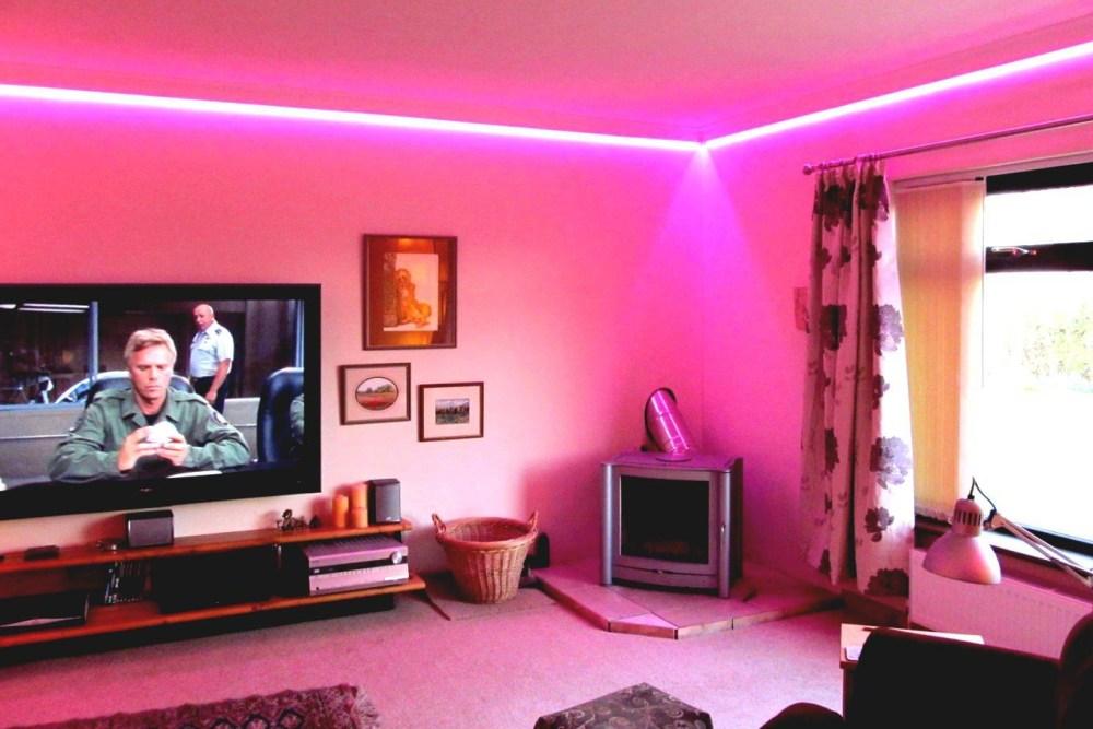 Dekorasi Lampu LED Rumah Ruang Keluarga