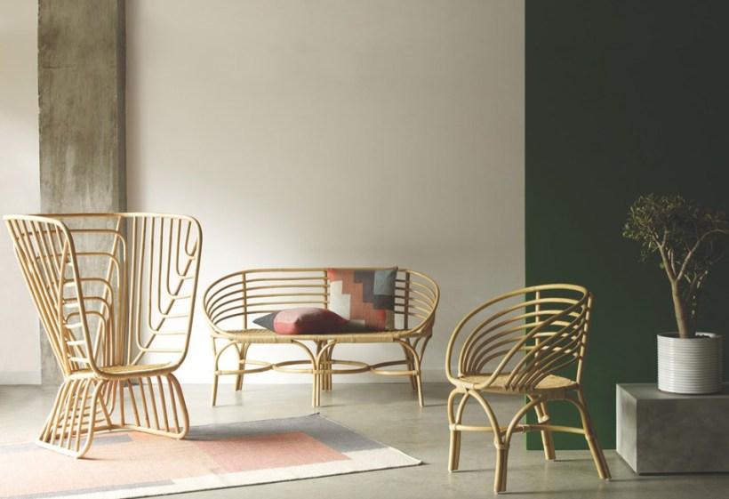 bentuk kursi bambu