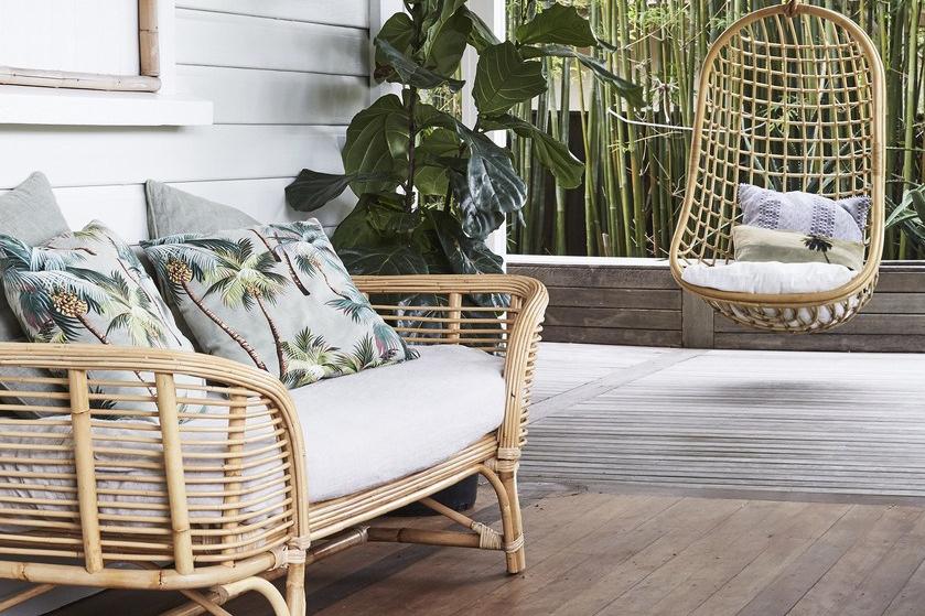 furnitur kursi bambu