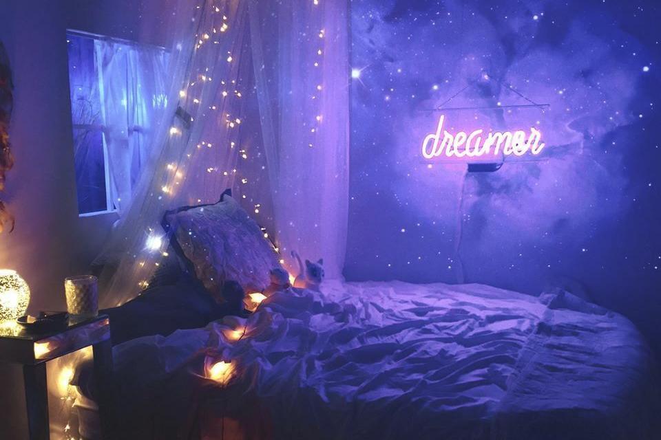Desain Kamar Tidur Lampu Tumblr populer 37 cara memasang lampu tumblr di dinding kamar