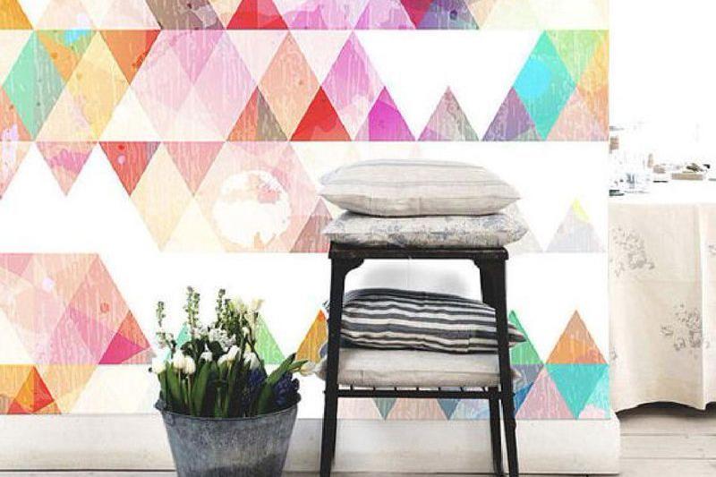 wallpaper dinding rumah berwarna cerah