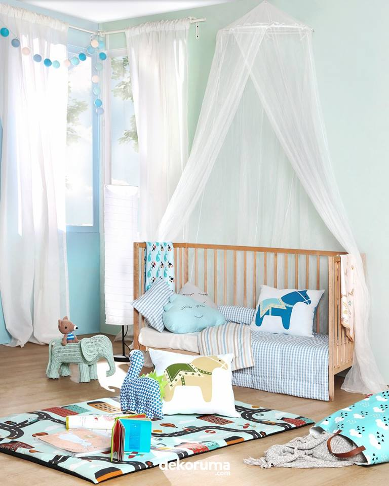 Kelambu keranjang bayi kamar anak