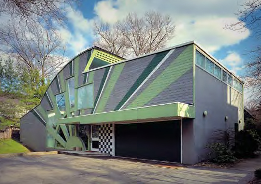 Arsitektur Postmodern Warna Kontras