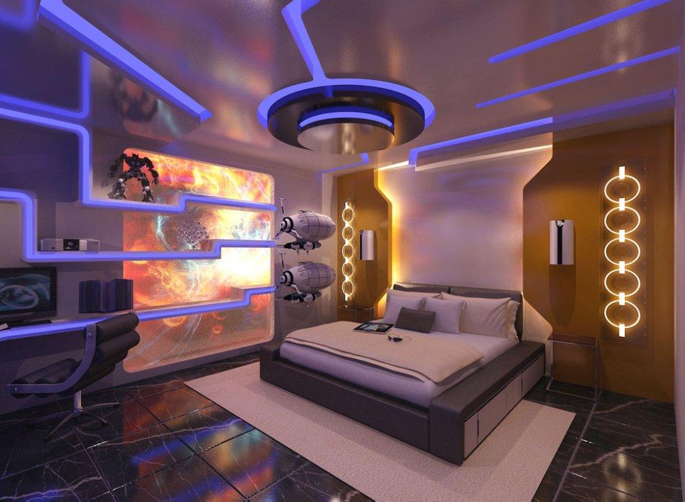 Lampu LED Desain Futuristik