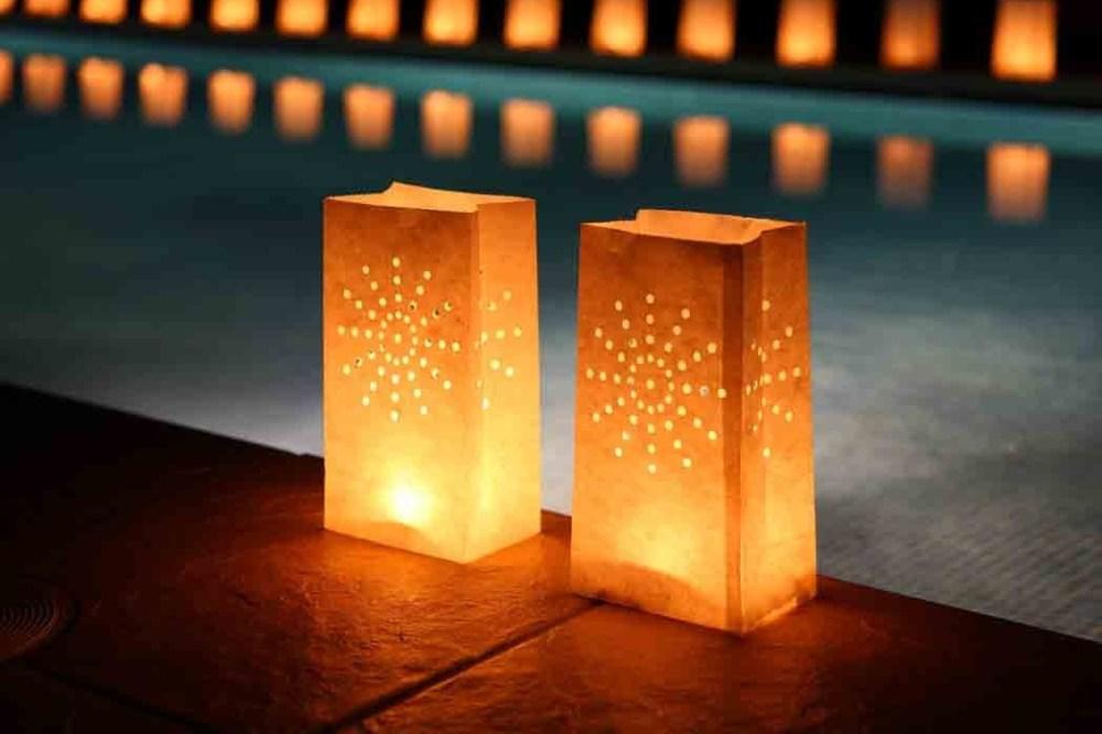 Lampu Taman dari Kertas