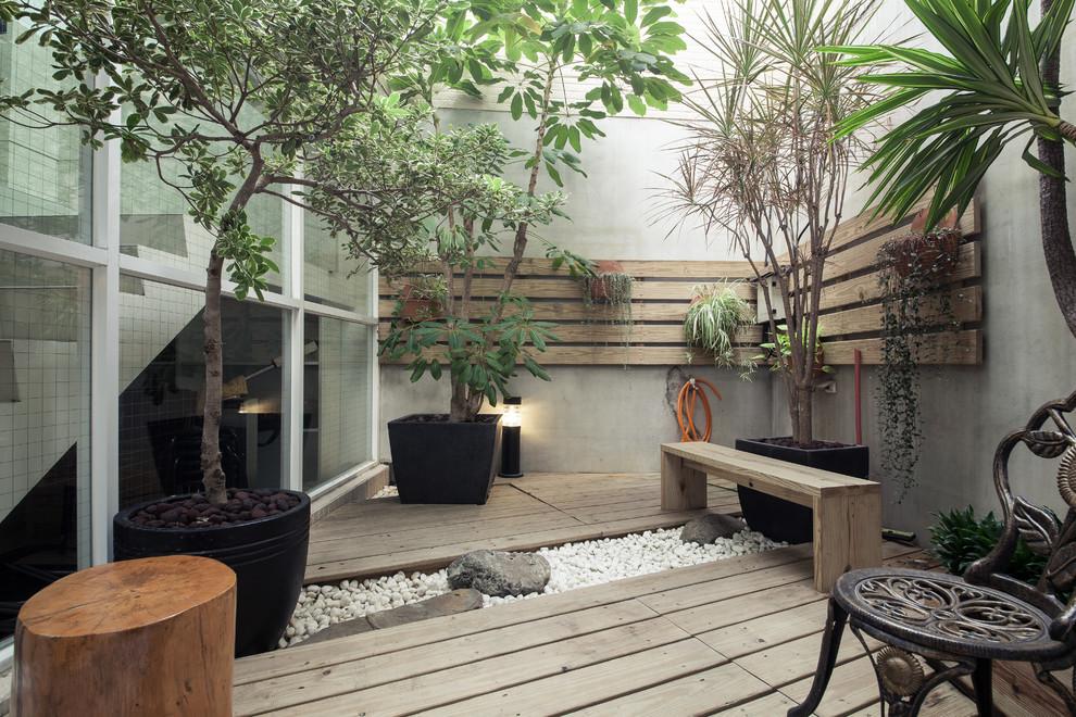 Zen garden bernuansa kayu