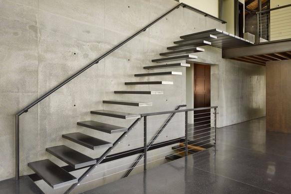 Rumah Minimalis 2 Lantai Void kuat dan elegan 7 ide tangga besi buat rumah minimalis