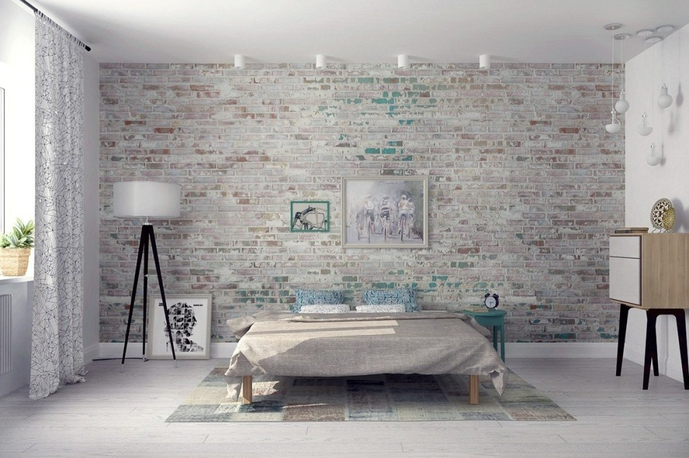 Dinding Batu Bata Scandinavian