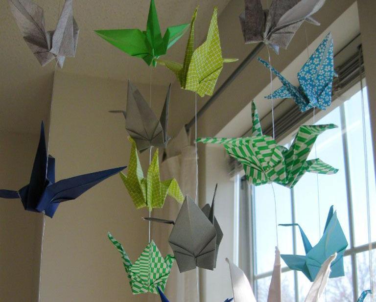 Hiasan Jendela Origami